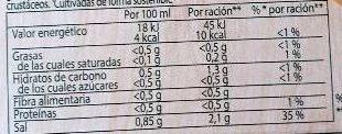 Caldo de pescado en cacitos pack 4 tarrinas 112 g - Información nutricional - es