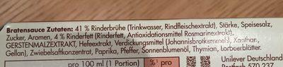 Sauce pur Bratensauce - Ingredients - de