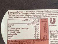 Sauce pur Bratensauce - Nutrition facts - de