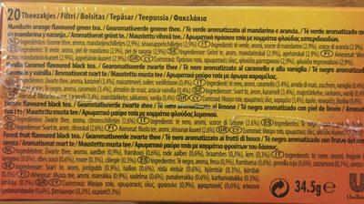Lipton Te' Pack Assort 20 Filtri - Ingrediënten