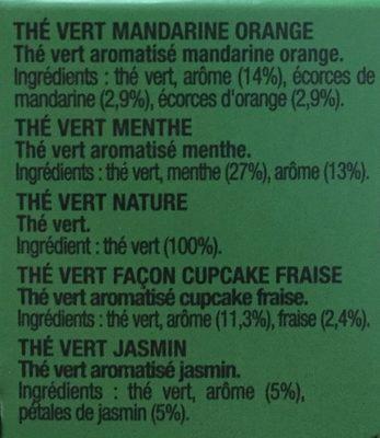 Le Coffret Thés Verts - Ingredients