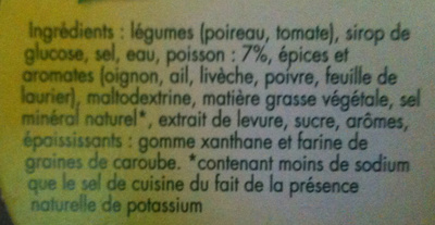 Marmite de Bouillon - Poisson - Ingrédients - fr
