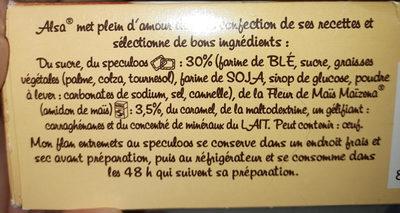 172G Flan Speculoos Alsa - Ingrediënten - fr