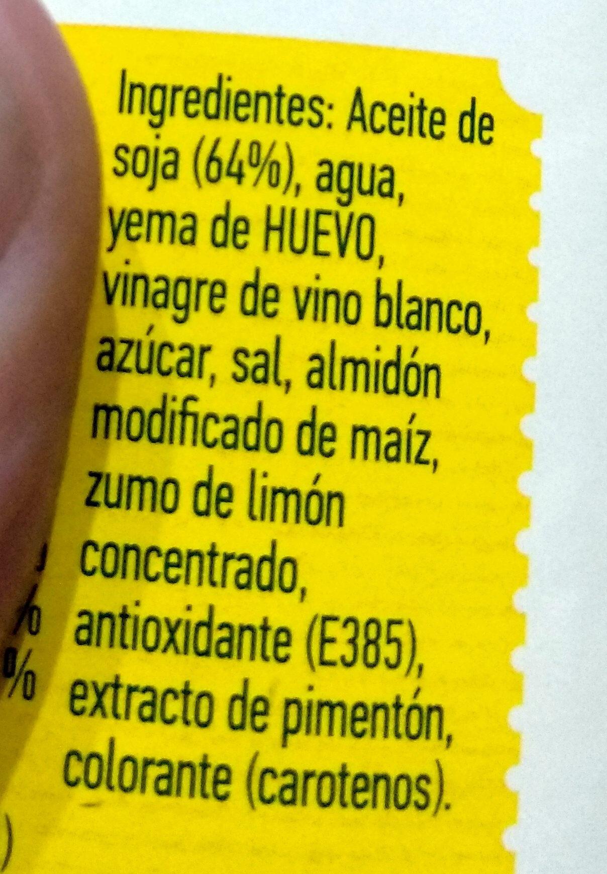 Gran mayonesa - Ingredientes - es