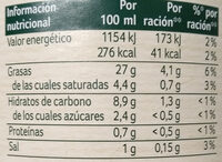Mayonesa - Nutrition facts - es