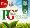 PG Tips One Cup Pryamid Tea Bags - Produit