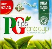 PG Tips One Cup Pryamid Tea Bags - Product - en