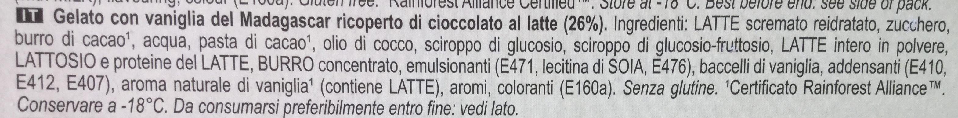 MAGNUM Glace Bâtonnet Classic 4x110ml - Ingredienti - it