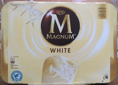 Magnum Batonnet Glace Chocolat Blanc x4 440ml - Produit - fr