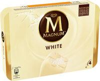 MAGNUM Glace Bâtonnet Chocolat Blanc 4x110ml - Product - fr