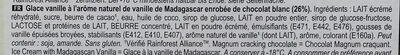Magnum Batonnet Glace Chocolat Blanc x4 440ml - Ingrédients - fr