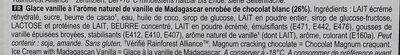 MAGNUM Glace Bâtonnet Chocolat Blanc 4x110ml - Ingredients - fr
