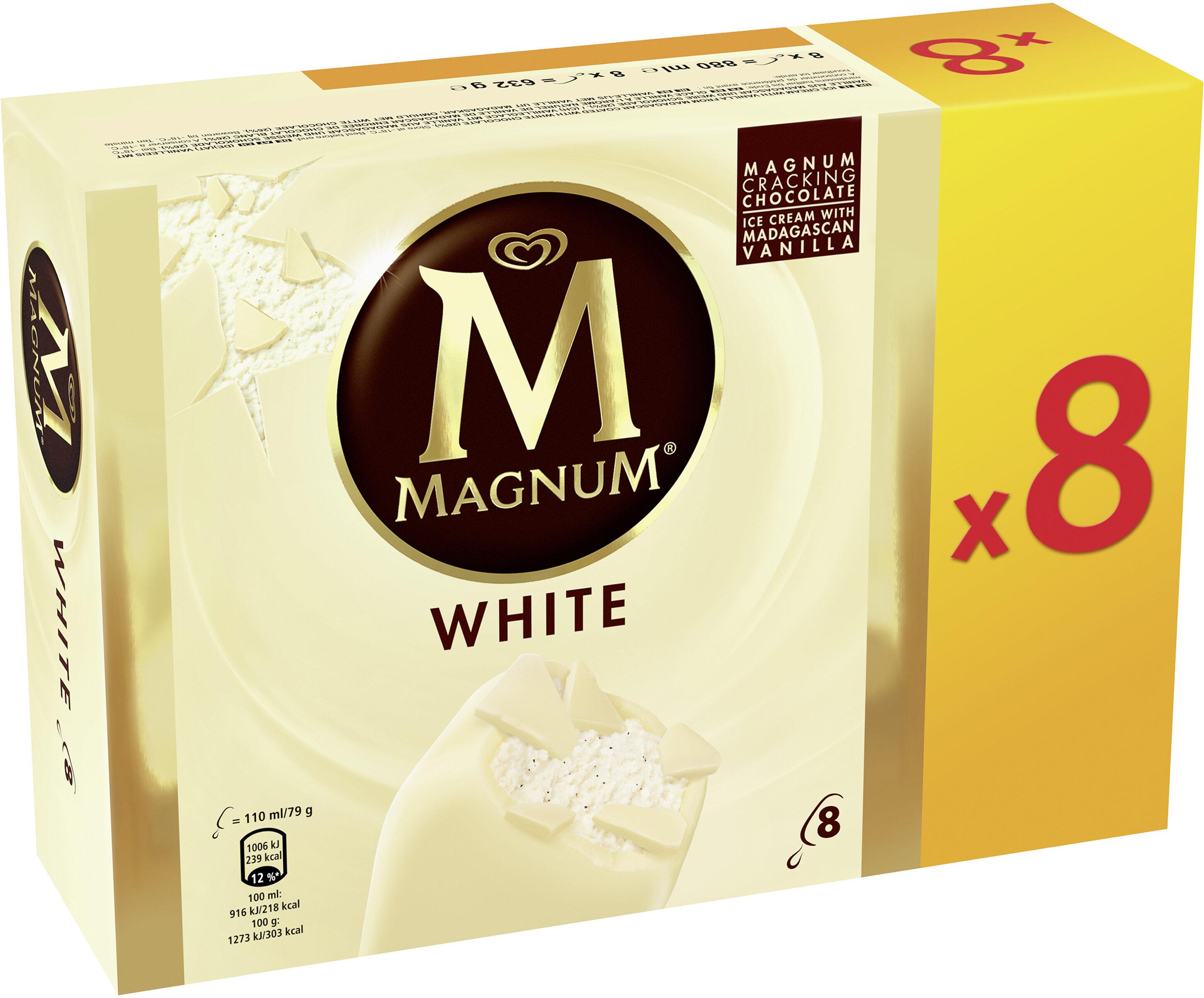 Magnum Glace Batonnet Chocolat Blanc 8x110ml - Product - fr
