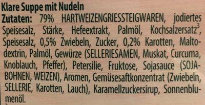 Buchstaben Suppe - Ingredients
