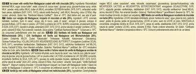 Magnum Batonnet Glace Classic x6 660ml - Ingrédients - fr