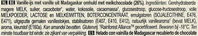 Magnum Batonnet Glace Classic x6 660ml - Ingrediënten - nl