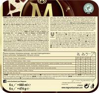 Magnum Batonnet Glace Classic x6 660ml - Informations nutritionnelles - fr