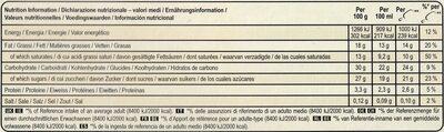 Magnum Batonnet Glace Classic x6 660ml - Voedingswaarden - nl