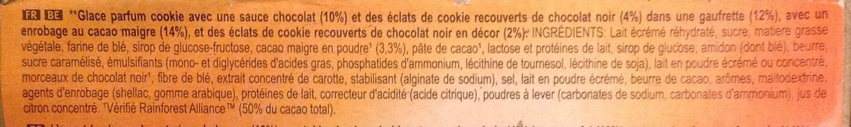 Cornetto Cookie - Inhaltsstoffe