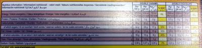 Magnum mini Double Caramel Double Chocolate - Informations nutritionnelles
