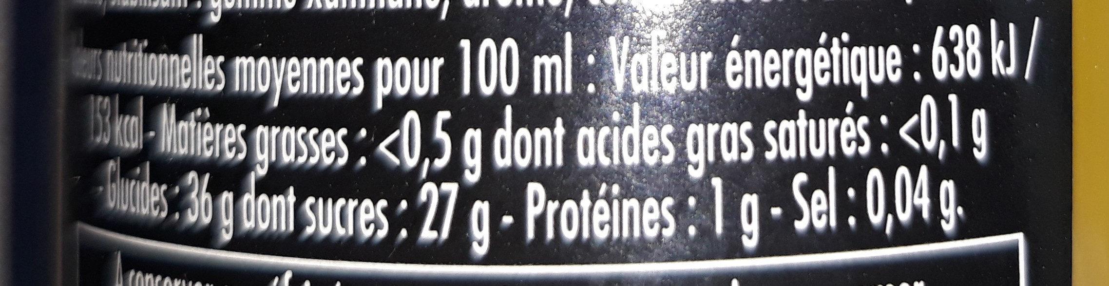 Velours de Vinaigre aux Agrumes - Voedigswaarden