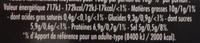 Maille Moutarde à l'Ancienne Verrine 160g - Informations nutritionnelles