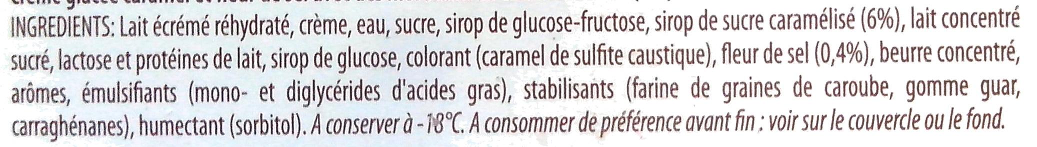 Caramel fleur de sel - Ingrédients