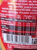 Amora Sauce Samouraï Flacon Souple - Nutrition facts - fr
