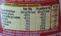 Amora Ketchup Nature Flacon Top Up 575g - Informations nutritionnelles - fr