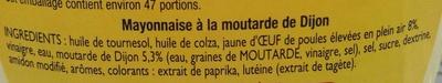 Amora 0 Mayonnaise De Dijon 710g - Inhaltsstoffe - fr