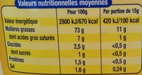 Amora 0 Mayonnaise De Dijon 710g - Nährwertangaben - fr