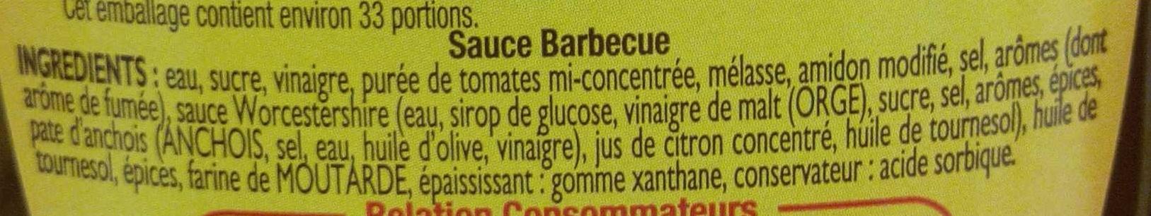Amora Sauce Barbecue - Offre Saisonnière - Ingredients - fr