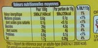 Amora Sauce Barbecue - Offre Saisonnière - Nutrition facts - fr