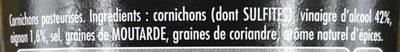 Maille Cornichons Mini L'Original 370 Offre Saisonnière - Ingrediënten - fr