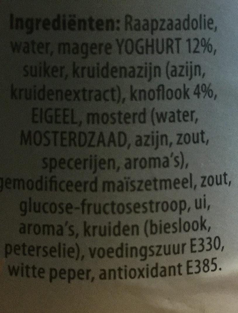 Knoflook - Ingredients