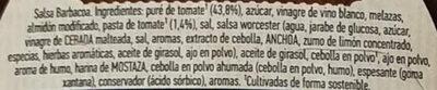 Salsa barbacoa - Ingrédients