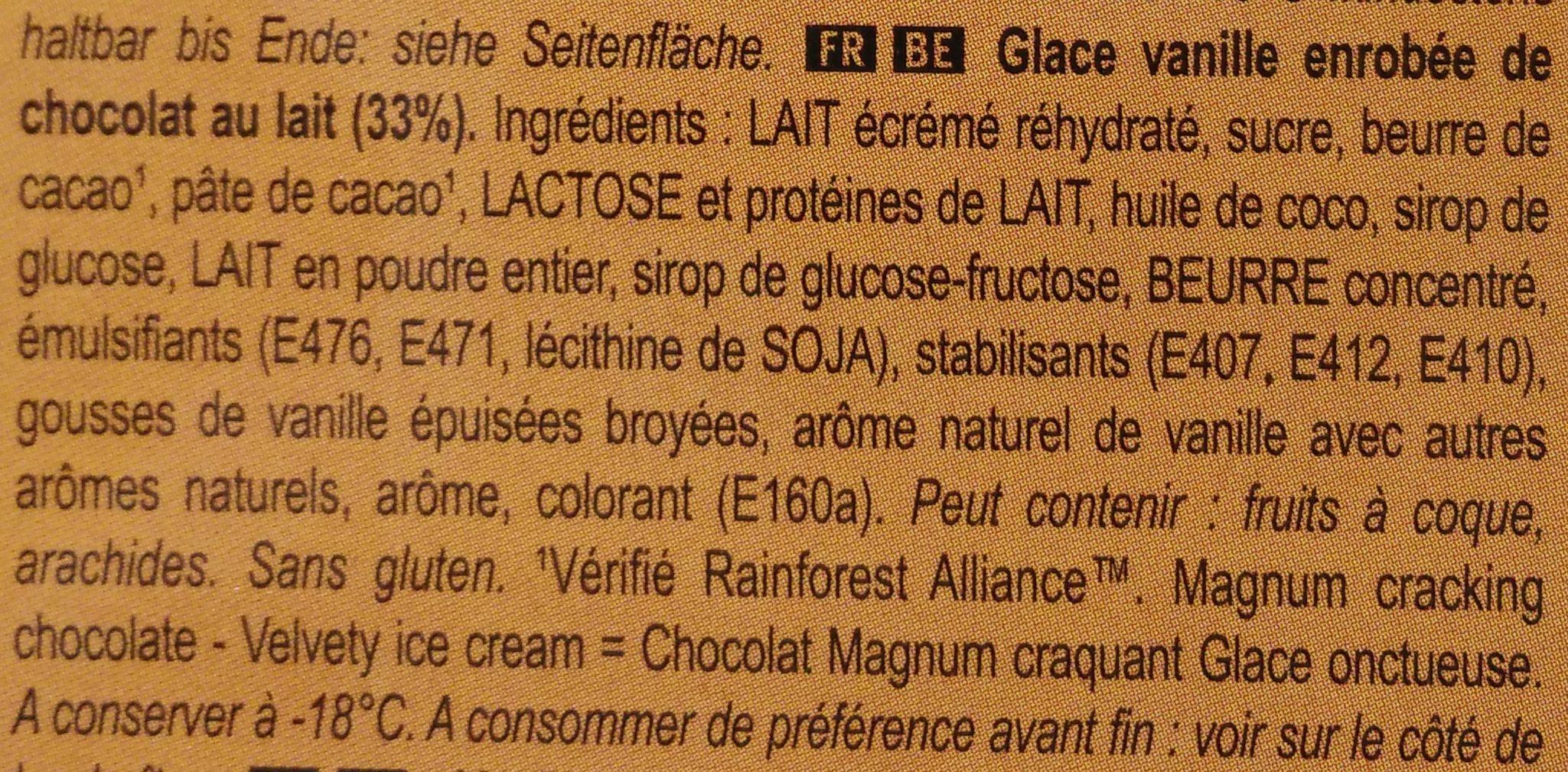 Magnum Mini Classic - Ingrediënten - fr