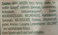 Knorr FS Spargelcreme Suppe - Ingredients