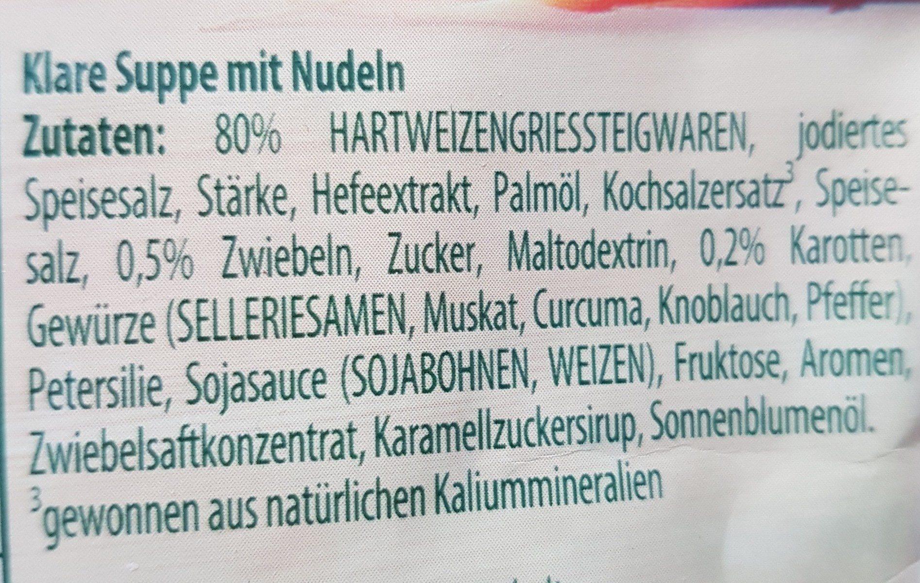 Sternchen Suppe - Knorr - Ingrédients