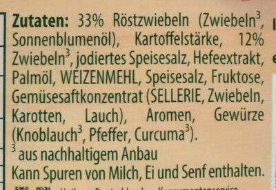 Zwiebelsuppe - Ingrédients - de