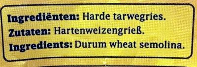 Mie - Ingrediënten - nl
