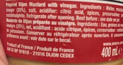 Moutarde préparée - Fine et Forte - Ingrédients - fr