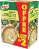 Knorr Riche en Légumes Soupe Liquide Courgettes et Chèvre Frais 2x1l - Produit