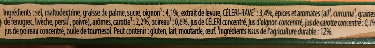 Knorr Bouillon Légumes Réduit en Sel 12 Cubes 109g - Ingrédients - fr