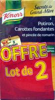 Secrets de Grand-Mère Potiron Carottes fondantes et pincée de romarin (Lot de 2) Knorr - Produit