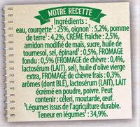 Knorr Soupe Douceur de Courgettes Chèvre Frais 30cl - Ingredients - fr