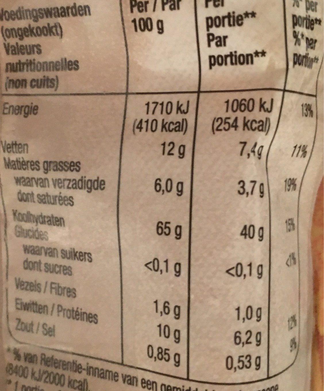 Wok noodles (pate Pour Wok) - Informazioni nutrizionali - fr
