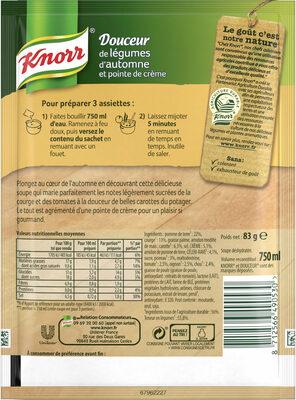 Knorr Soupe Douceur de Légumes d'Automne 83g 3 Portions - Ingredienti - fr