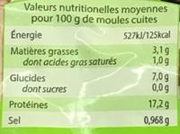 Moules Premier - Nutrition facts