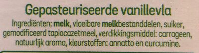 Boer en land Vanillevla - Ingredients